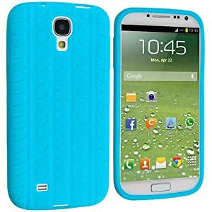 Accessory Planet(TM) Baby Blue Tire Tread Silicone Soft Gel Rubber Skin Case Cover Accessory for Samsung Galaxy S4 wangjiang maoyi