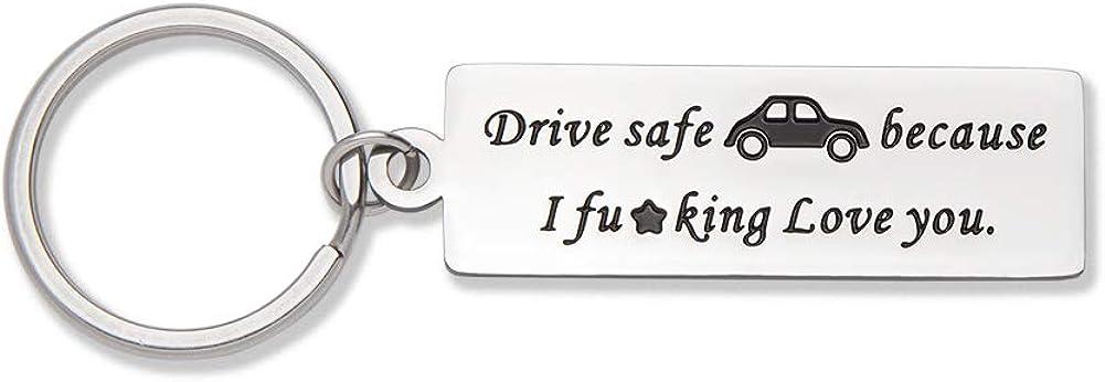 Llavero de seguridad para hombre, aniversario, día de San Valentín, llavero, etiqueta de perro, regalo de cumpleaños para novio, camiones, marido, padre, nuevo conductor, pareja, regalo de calcetín