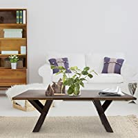 American Trails Ridgefield Coffee Table with 1 Thick Solid Walnut Wood Top