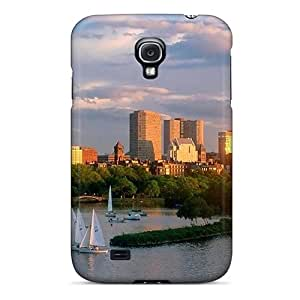 Quality Robearke Case Cover With Sailboats On A City River At Sunset Nice Appearance Compatible With Galaxy S4