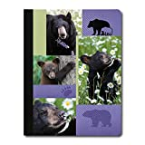Tree-Free Greetings Black Bear Collage Soft Cover 140 Page Recomposition College Ruled Notebook, 9.75 x 7.25 Inches (CJ47023)