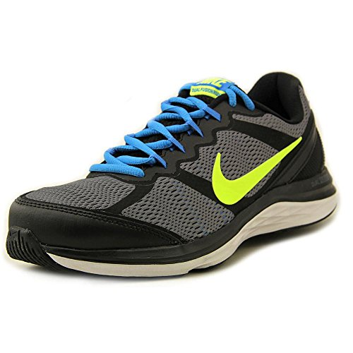 New Nike Mens Dual Fusion Run 3 Running Shoes Black/Blue/Volt 8