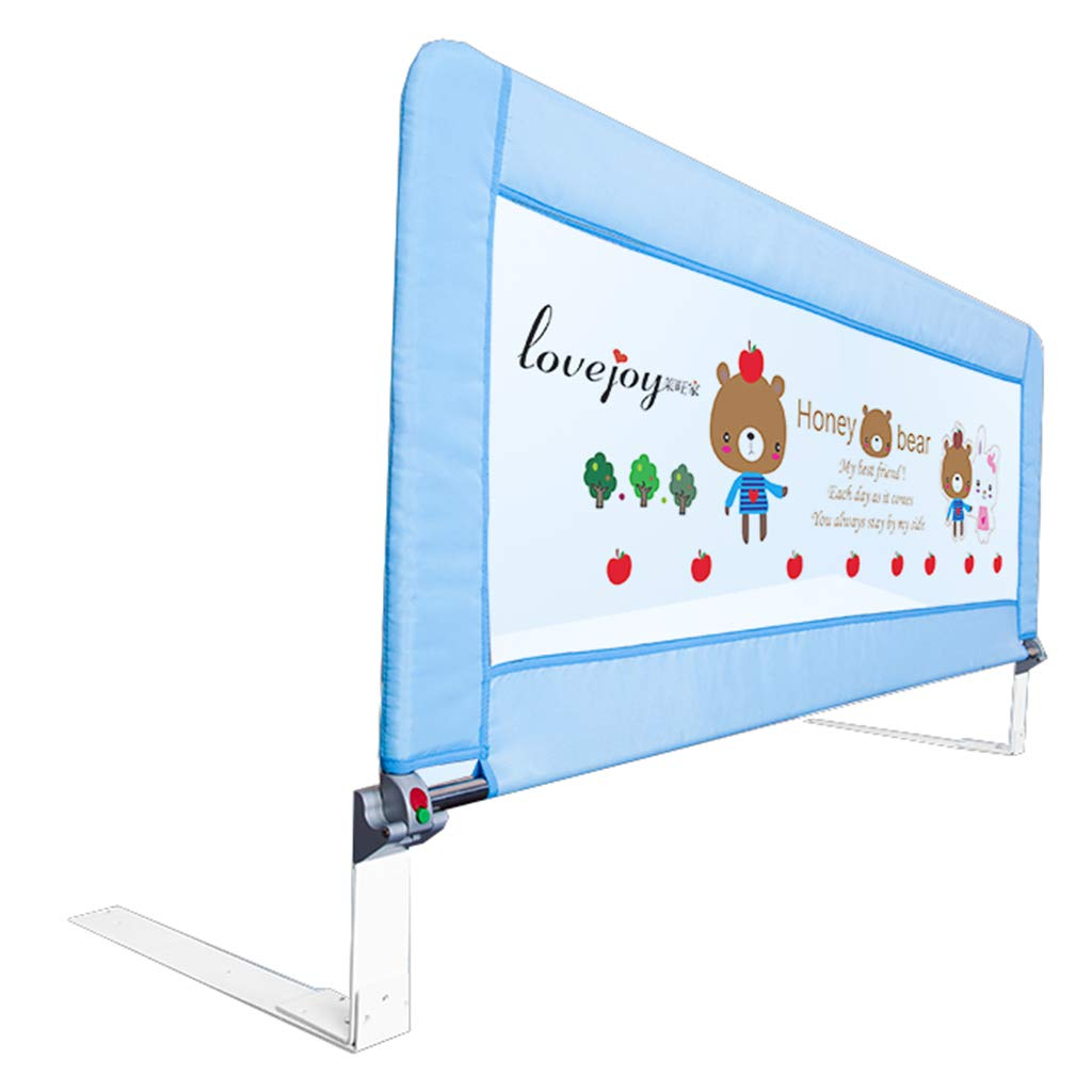 エクストラロングベッドレイルズ幼児クイーンベッド調節可能な折り畳み式幼児の安全なベッドレール高さ71センチメートル (色 : 青, サイズ さいず : Length 80cm) Length 80cm 青 B07JX56KQN