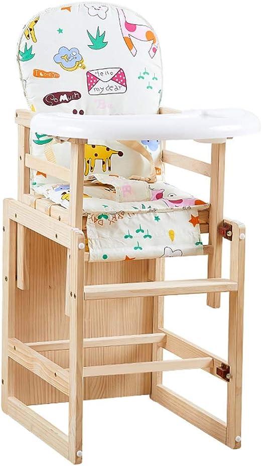 Silla Alta de Madera 2 en 1, Mesa de Actividades para niños, Silla ...