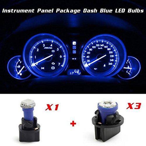 Partsam 3PCS Blue T10 PC74 194 Instrument Panel LED Light Gauge Cluster T5 LED Bulb Replacement for Honda Accord 1994-1997