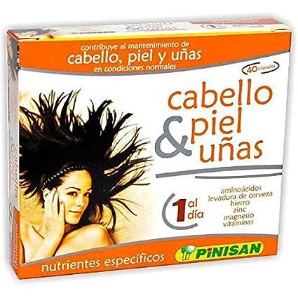 CABELLO PIEL UÑAS 40 Caps