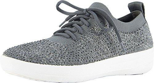 FitFlop Women's F-Sporty Uberknit Sneakers - Crystal Charcoal/Dusty Grey 11