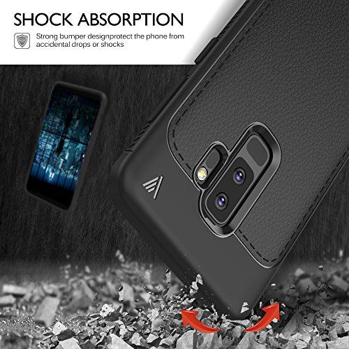 Funda Samsung Galaxy S9 Plus, iBetter del teléfono TPU del de la imitación ninguna Case del teléfono móvil caja del teléfono Cover para Samsung S9 Plus Smartphone, (Azul) Negro