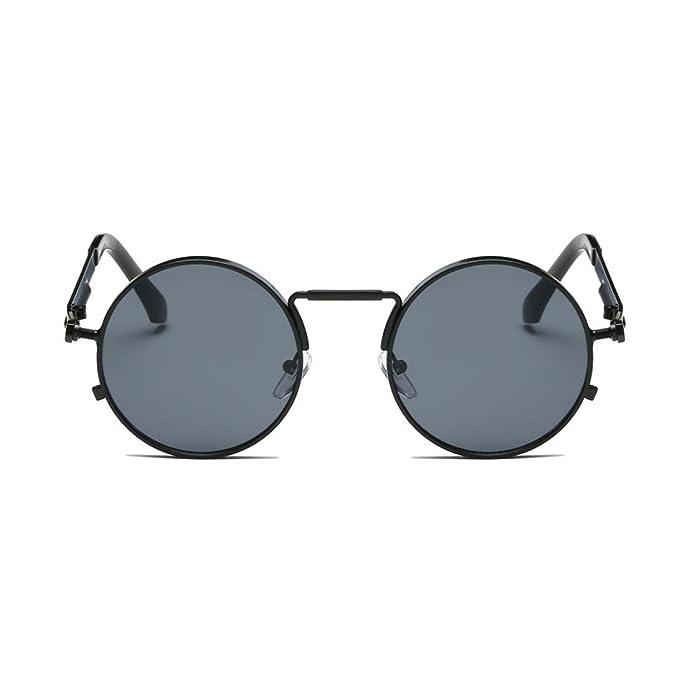 Dame Sonnenbrille Polarisierte Fahrbrille Runde Retro Trend Sonnenschutz Sonnenbrille,Grey
