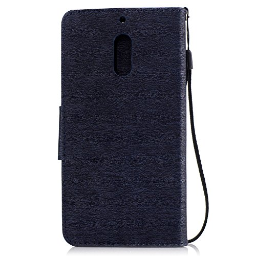 Funda Moto G5 Plus Case , Ecoway Winnie el patrón de gofrado PU Leather Cuero Suave Cover Con Flip Case TPU Gel Silicona,Cierre Magnético,Función de Soporte,Billetera con Tapa para Tarjetas ,Carcasa P zafiro
