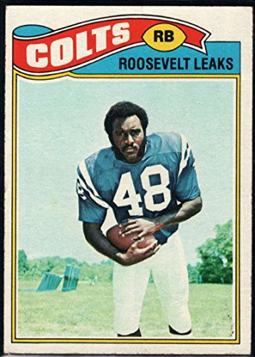 Football NFL 1977 Topps #171 Roosevelt Leaks RC Colts (1977 Topps Card Colts)