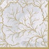 Cocktail Napkins Fall Wedding Ideas Fall Decorations Gilded Majolica Ivory Pk 40