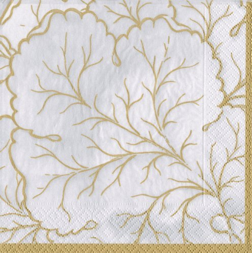 Cocktail Napkins Fall Wedding Ideas Fall Decorations Gilded Majolica Ivory Pk 40