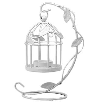 Cdet Hojas Jaula de pájaros candelabro Muebles para el hogar ...