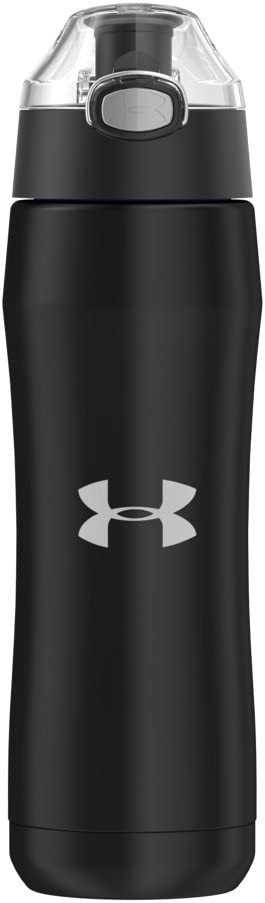 Under Armour Beyond 18 Ounce Stainless Steel Water Bottle, Matte Black