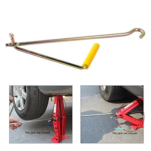 Parts Crank (Hanperal Car Steel Tire Wheel Lug Wrench Scissor Jack Crank Speed Handle Lift Tool)