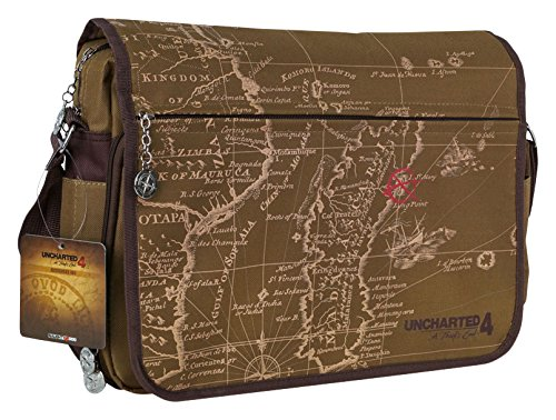 Price comparison product image Gaya - Uncharted 4: A Thief's End - Messenger Bag - Map Design