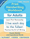 Print Handwriting Workbook for Adults: Improve your