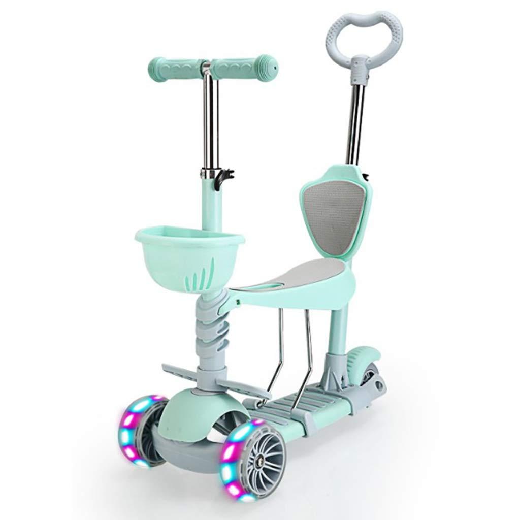 YHDD 5イン1子供は軽量スクーターでスクーターを運転することができます (色 : 緑) 緑