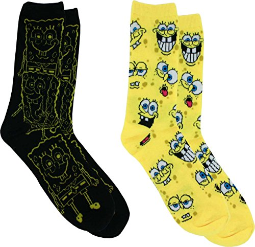 Nickelodeon Spongebob Squarepants Casual Crew Socks, 2-Pack, 6-12]()
