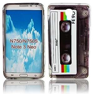 Thematys - Carcasa de silicona para Samsung Galaxy Note 3 NEO N7505, diseño de casete retro