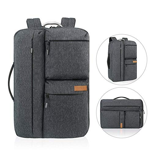 f2d95db0a1 REYLEO Laptop Backpack 17 Inch Water-resistant Business Travel Backpack  Rucksack For Men Women - Dark Blue