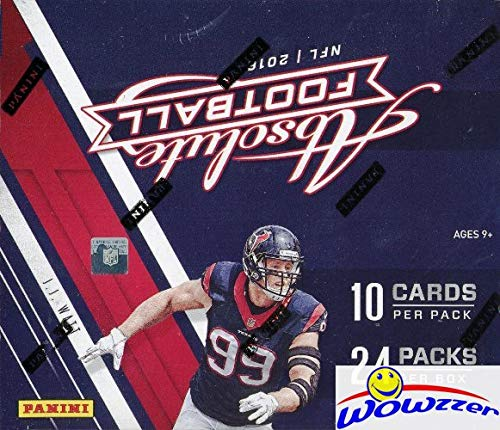 2016 Panini Absolute Football MASSIVE Factory Sealed 24 Pack Retail Box with 240 Cards Look for RC's & Autographs of Carson Wentz, Ezekiel Elliott, Jared Goff, Dak Prescott & More! ()