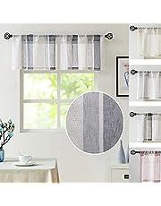 Stripe Semi-Sheer Window Curtain