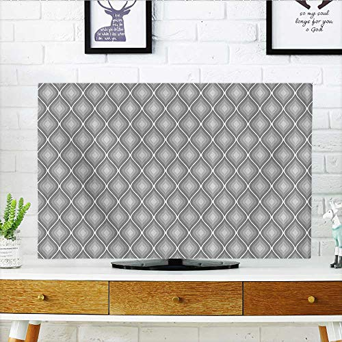 Protect Your TV Rhombus Forms in Victorian Stylized Authentic Dual Linked Bound Interior Angle Shapes Protect Your TV W35 x H55 INCH/TV 60