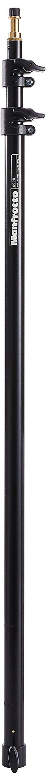 Manfrotto 099B 3- Section Extension Pole Extends from 35-Inches to 92-Inches for Light Stands (Black)