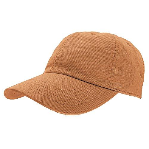 Gelante Baseball Caps Dad Hats 100% Cotton Polo Style Plain Blank Adjustable Size. 1819-Copper ()