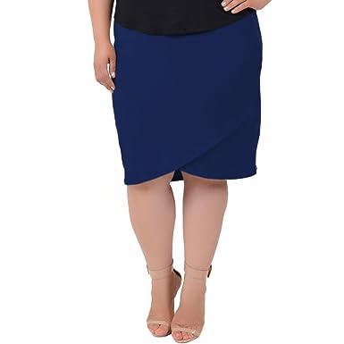 c656028b93 Stretch is Comfort Women's Plus Size Tulip Skirt at Amazon Women's ...