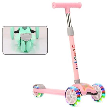 YKKHHCD Scooter para Niños Flash Scooter Plegable para Niños con ...