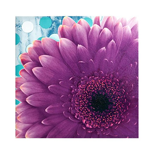 Mi-Zone Vibrant Violet Floral Canvas Wall Art