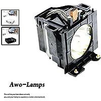 AWO ET-LAD40/ET-LAD40W Premium Replacement Projector Lamp Bulb with Housing for PANASONIC PT-D4000 PT-D4000U