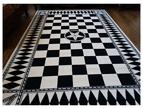 Masonic Auatralian Wool Area Rug Carpet Ring Apron Freemason Lodge Knights Templar (Wool, 6'6