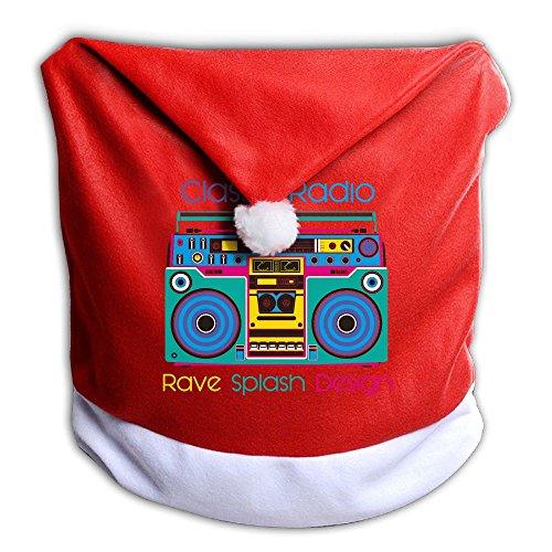 Christmas Seat Cover Classic Radio Rave Splash Design Cute Christmas Decor 1PCS 50x60CM ZHONGRANINC (Christian Christmas Stations Radio)