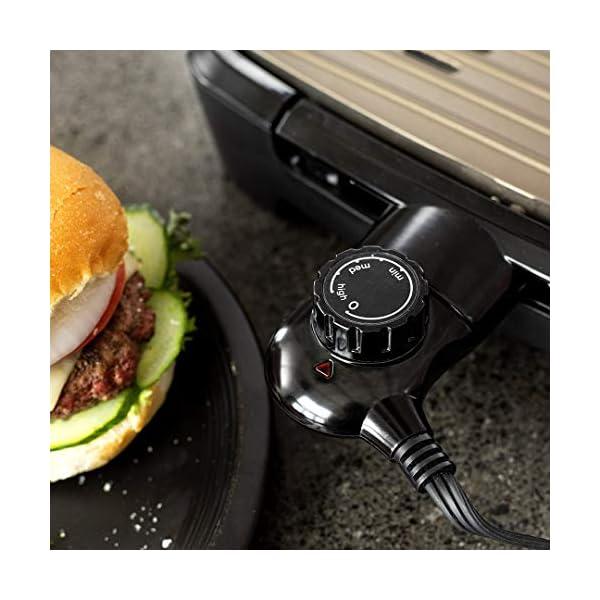 George Foreman 25850-56 Smokeless BBQ Grill, Niente Fumo per utilizzo in casa, Piastra e Vassoio Lavabili in… 3