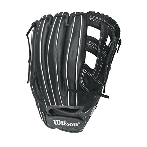 Wilson Onyx Outfield Fastpitch Softball Glove, Black/Coal, Right Hand Throw, 13-Inch