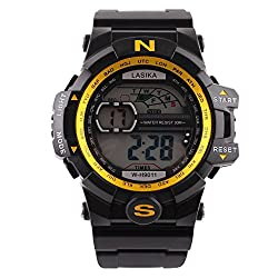 Cathalem Mens Digital Sports Watch Water Resistant Outdoor Easy Read Military Back Light Alarm Quartz Watch