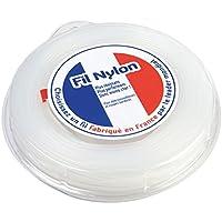 Fil débroussailleuse nylon 1,6 mm x 100 m. Rond. Blanc. Blister