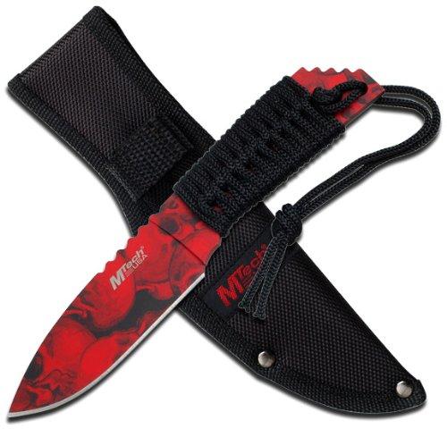 MTECH USA MT-610RD Fixed Blade Knife 8.5-Inch Overall, Outdoor Stuffs