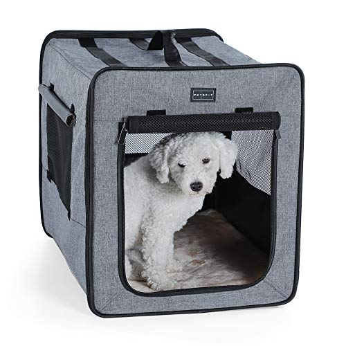 Petsfit Soft Portable Crate with Solid Structure for Indoor and Outdoor Used, - Crate Soft Dog