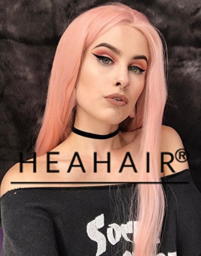 [Heahair Fashion Light Pink Handtied Synthetic Lace Front Wig for Cosplay] (18th Century Costumes Uk)