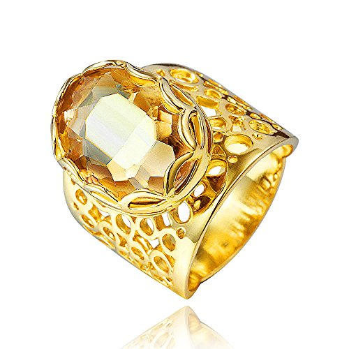 Dubai Style Gold Plating Statement Ring Jewelry for women Size 8