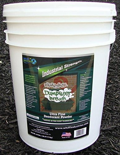 Dumpster Breath® Heavy Duty Commercial Odor Control Ultra Fine Deodorant Powder For All Solid Waste Management Environments. Eliminates Odors in Dumpsters, Trash Cans and Anywhere Residual Odors Can Occur - 5 Gallon Bucket (45lbs.) by Whiff Industries