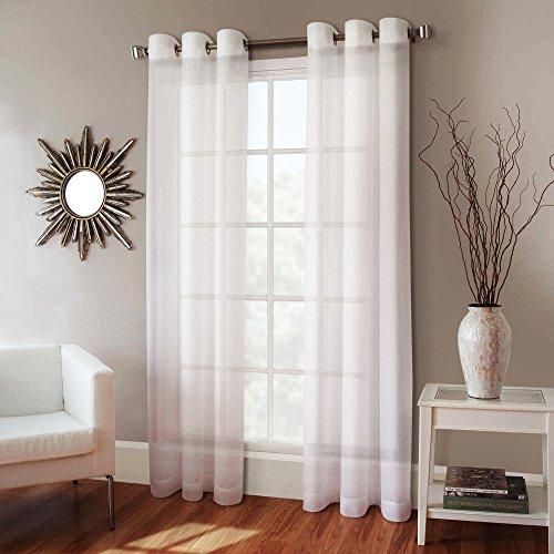 Gorgeous Home 1 Faux Silk Window Curtain Panel 55