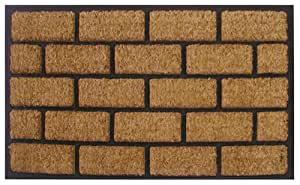 Imports Decor Rubber Back Coir Doormat, Liner Brick, 18-Inch by 30-Inch