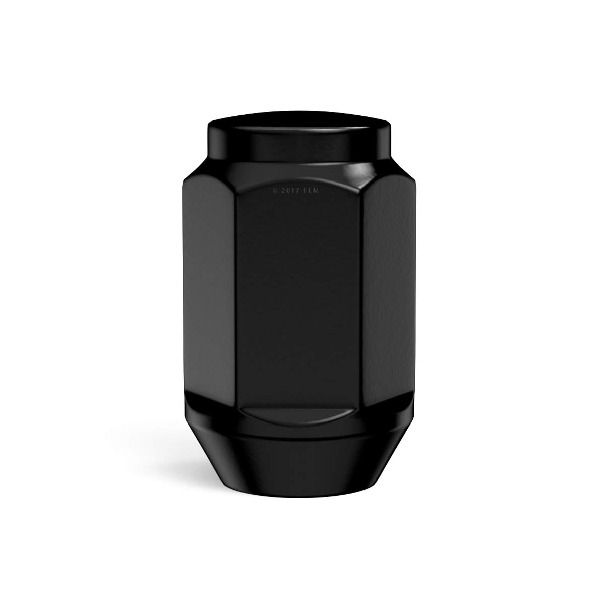Installs with 19mm or 3//4 Socket Metric 12x1.5 Thread Conical Cone Taper Acorn Seat Closed End 1.4 Length compatible with many Chevy Buick Chrysler Dodge GMC Pontiac 4pc Black Bulge Lug Nuts