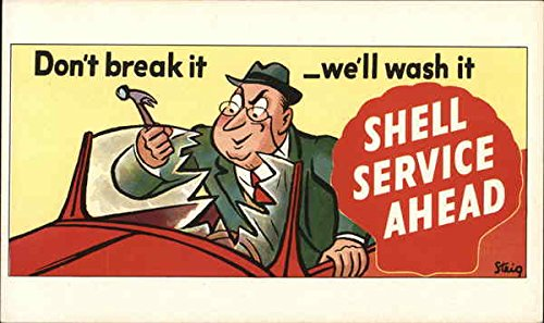 (Vintage Advertising Postcard: Shell Service Advertising)